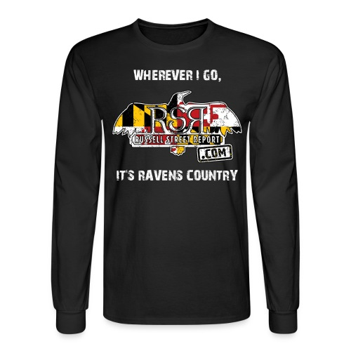 rsr logo ravens country png - Men's Long Sleeve T-Shirt