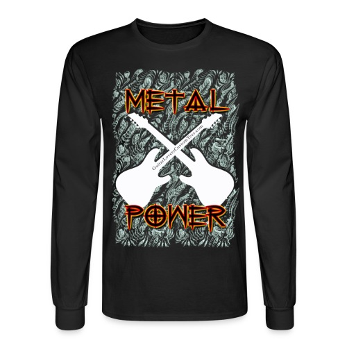 MetalPower by GuitarLoversCustomTees gif - Men's Long Sleeve T-Shirt