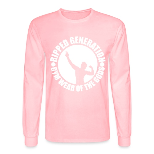 Ripped Generation Gym Wear of the Gods Badge Logo - Men's Long Sleeve T-Shirt