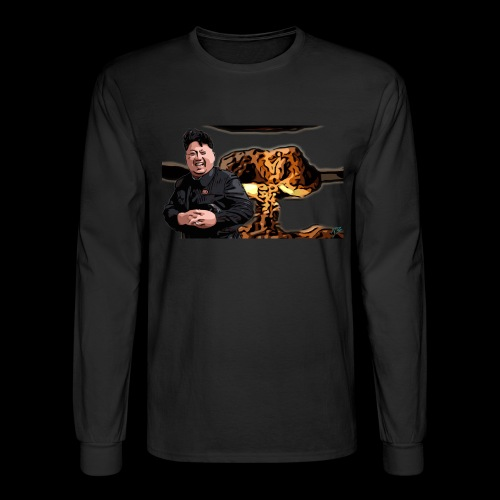 Crazy Kim exploded - Men's Long Sleeve T-Shirt