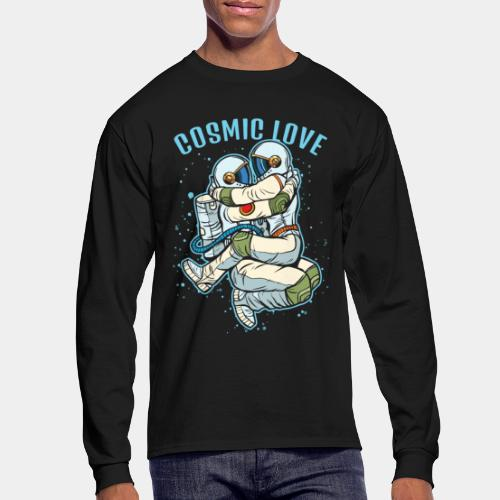 cosmic love astronaut space - Men's Long Sleeve T-Shirt