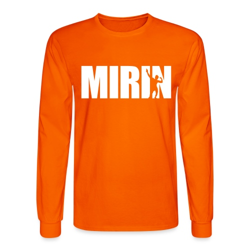 Zyzz Mirin Pose text - Men's Long Sleeve T-Shirt