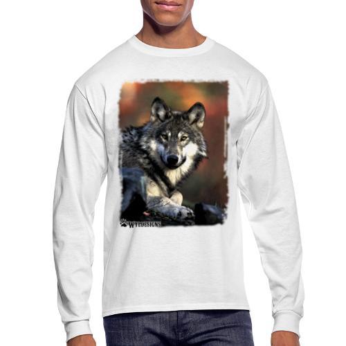 Wolf s Gaze - Men's Long Sleeve T-Shirt