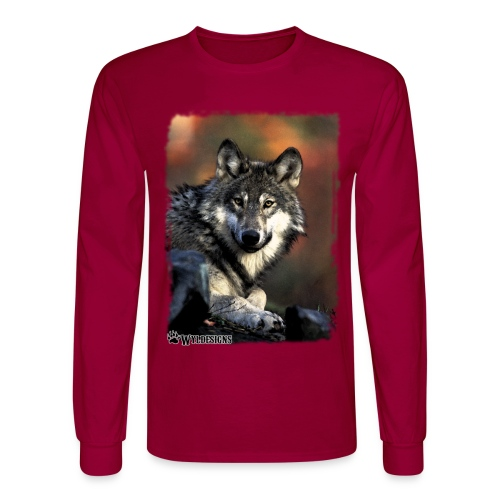 Wolf s Gaze - Men's Long Sleeve T-Shirt