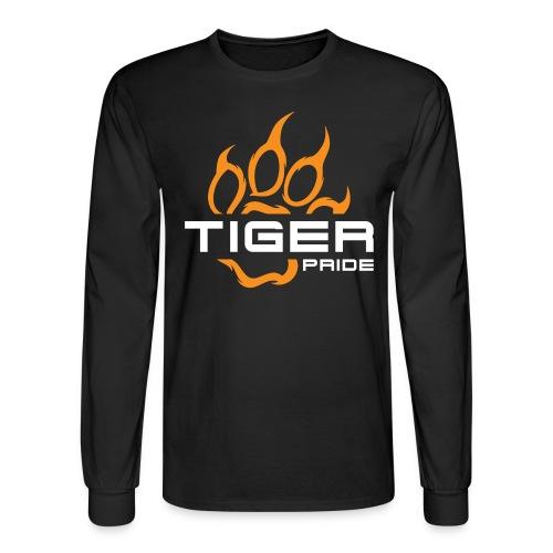 IV Tiger Pride on Black - Men's Long Sleeve T-Shirt