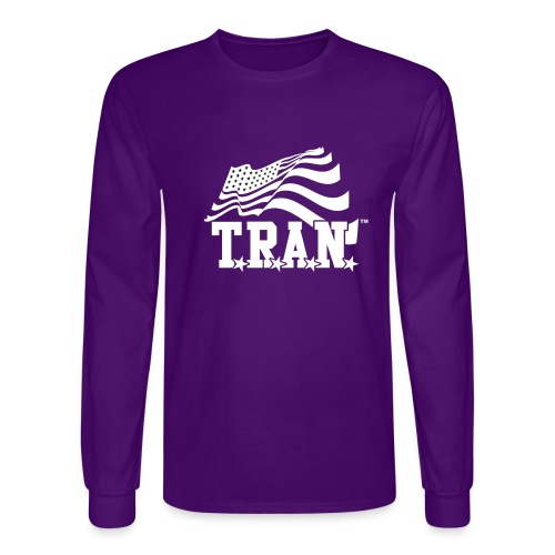 New Tran Logo Transparent inverted png - Men's Long Sleeve T-Shirt