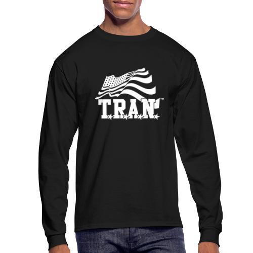New Tran Logo Transparent inverted png - Men's Long Sleeve T-Shirt