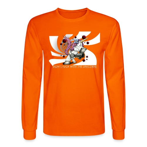 don't fuck with the unicorn - Men's Long Sleeve T-Shirt