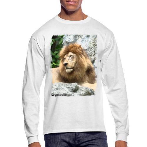 Lion On Rocks - Men's Long Sleeve T-Shirt