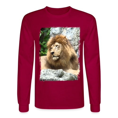 Lion On Rocks - Men's Long Sleeve T-Shirt