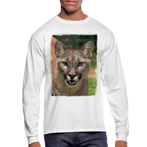 Cougar Stare - Men's Long Sleeve T-Shirt