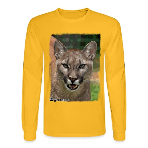 Cougar Stare - Men's Long Sleeve T-Shirt