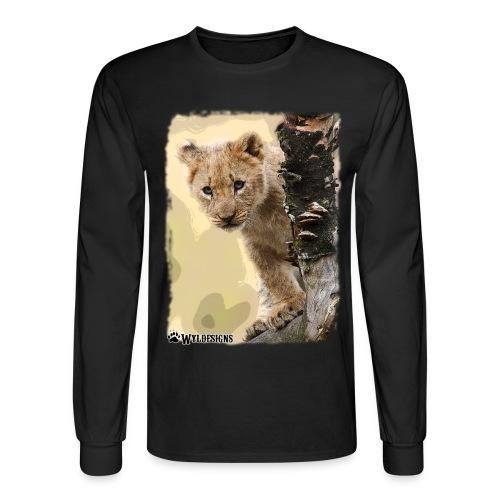 Lion Cub Peeking - Men's Long Sleeve T-Shirt