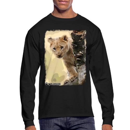 Lion Cub Peeking - Men's Long Sleeve T-Shirt