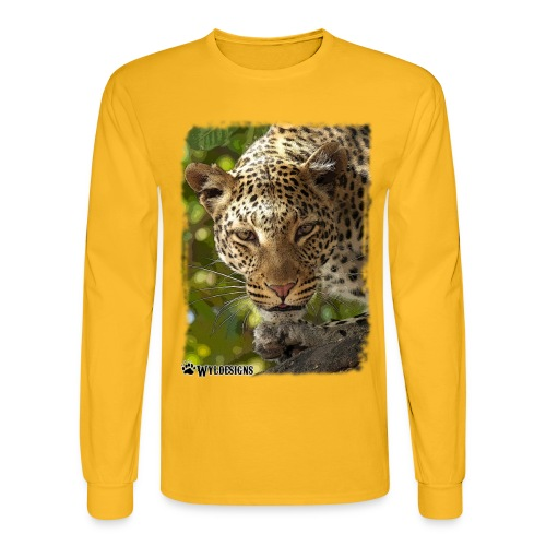Leopard Stare - Men's Long Sleeve T-Shirt