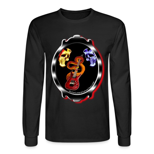 GuitarMirror by GuitarLoversCustomTees png - Men's Long Sleeve T-Shirt