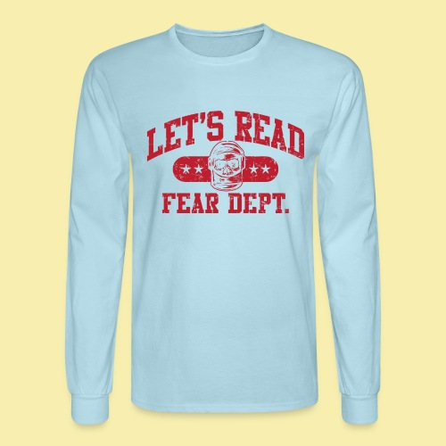 Fear Dept - Athletic Red - Inverted - Men's Long Sleeve T-Shirt