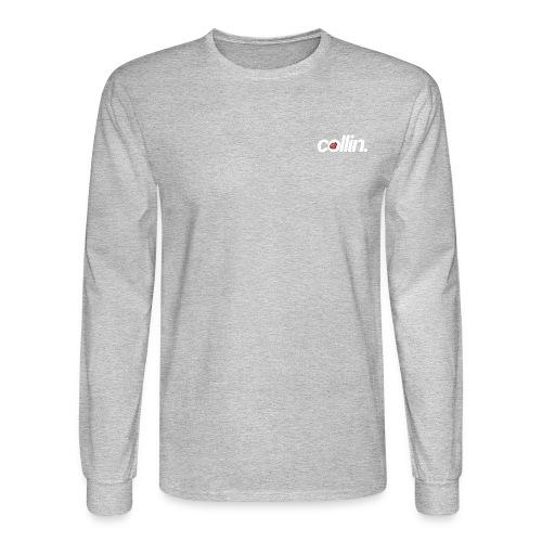 Collin. (White w/ Rose) - Men's Long Sleeve T-Shirt