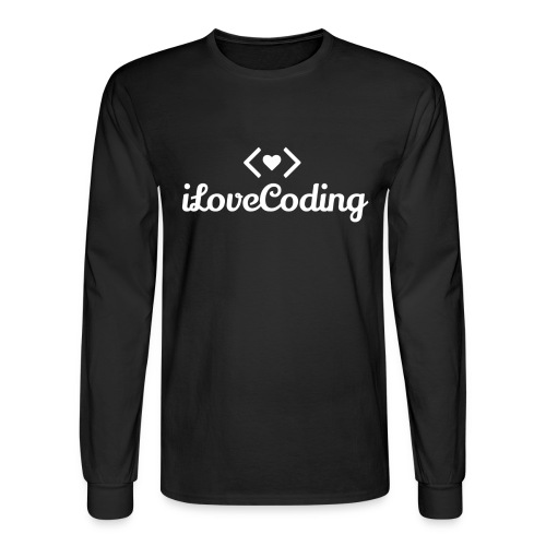 I Love Coding - Men's Long Sleeve T-Shirt