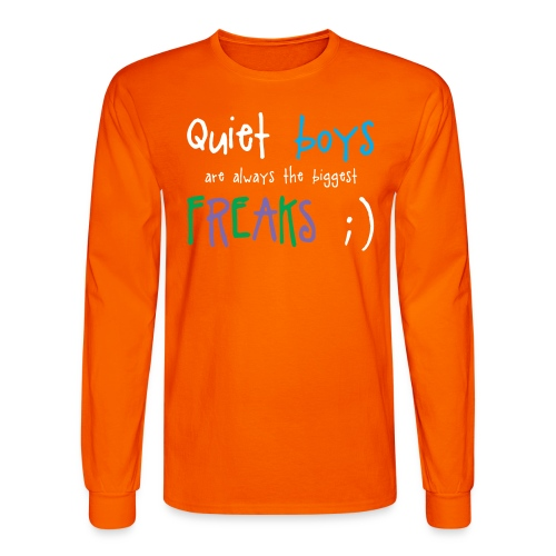 Quiet Boys (dark shirts) - Men's Long Sleeve T-Shirt