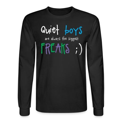 Quiet Boys (dark shirts) - Men's Long Sleeve T-Shirt