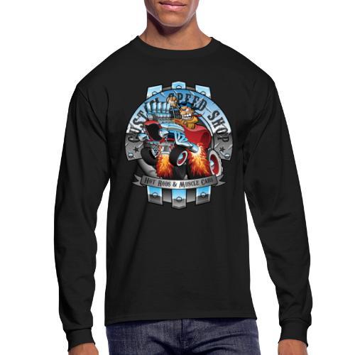 Custom Speed Shop Hot Rods and Muscle Cars Illustr - Men's Long Sleeve T-Shirt