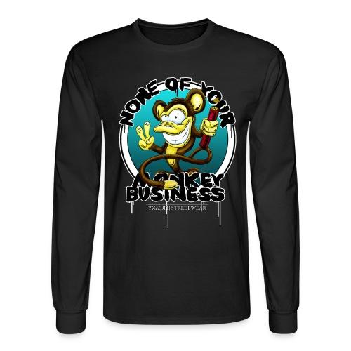 no monkey busin - Men's Long Sleeve T-Shirt