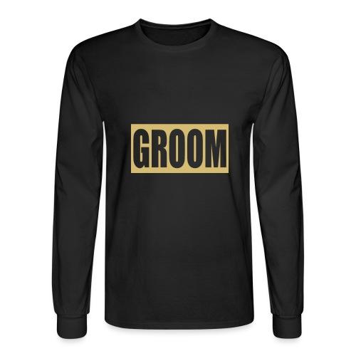 Groom Engagement Wedding - Men's Long Sleeve T-Shirt