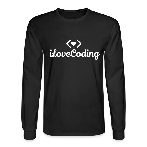 I Love Coding - Men's Long Sleeve T-Shirt