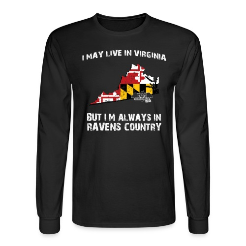 RavensCountryTee Virginia 07 07 1 png - Men's Long Sleeve T-Shirt