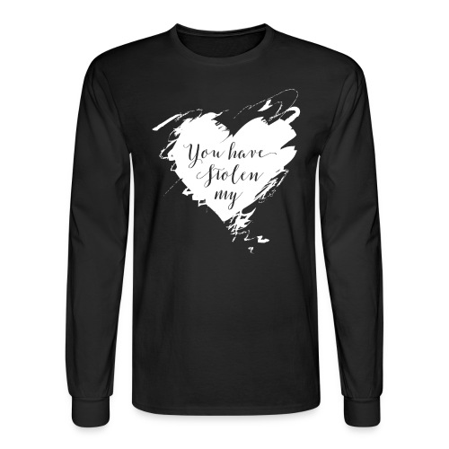 You have Stolen My Heart (White) - Men's Long Sleeve T-Shirt