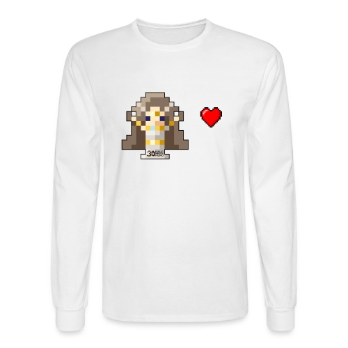 Time Goddess - I HEART Money (White text) - Men's Long Sleeve T-Shirt