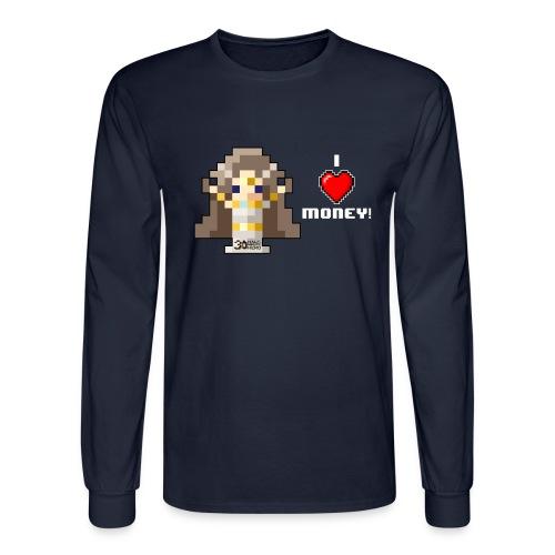 Time Goddess - I HEART Money (White text) - Men's Long Sleeve T-Shirt