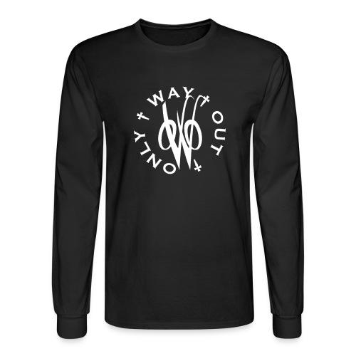 White OWO - Men's Long Sleeve T-Shirt