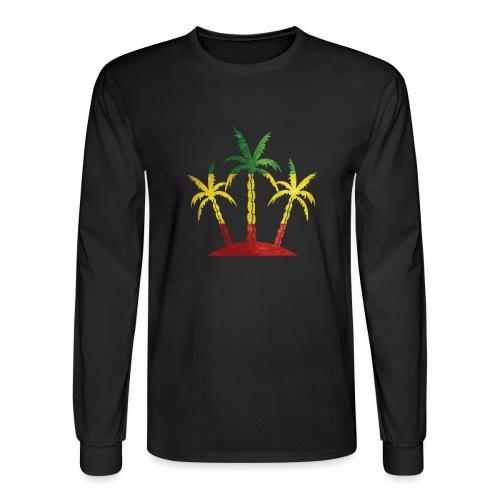 Palm Tree Reggae - Men's Long Sleeve T-Shirt