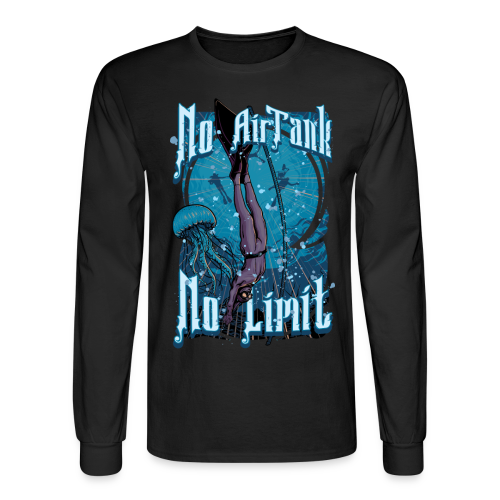 No Air Tank No Limit Freediving merchandise - Men's Long Sleeve T-Shirt