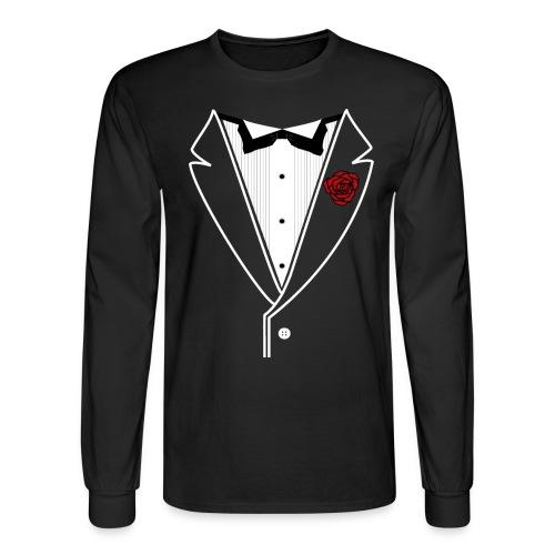 WhtLineRedRose - Men's Long Sleeve T-Shirt