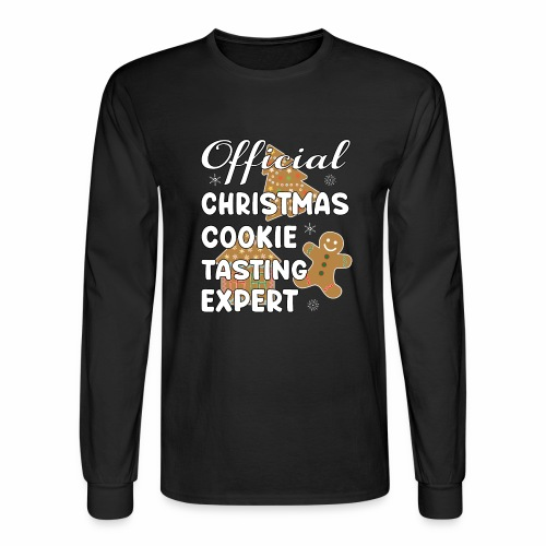 Funny Official Christmas Cookie Tasting Expert. - Men's Long Sleeve T-Shirt