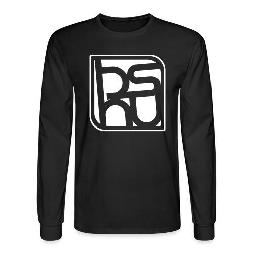 BSHU Just Logo WHITE - Men's Long Sleeve T-Shirt