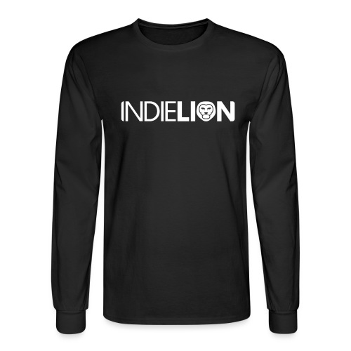 IndieLion textlogo white 01 png - Men's Long Sleeve T-Shirt