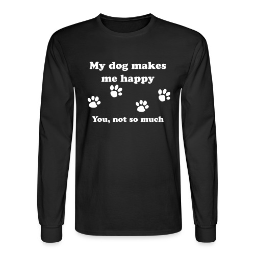 dog_happy - Men's Long Sleeve T-Shirt