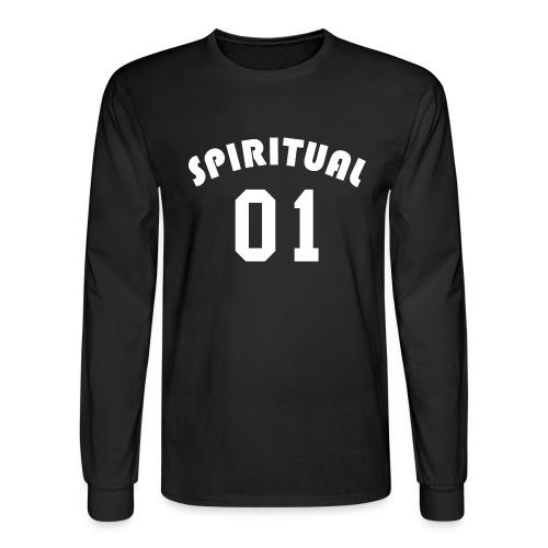Spiritual 01 - Team Design (White Letters) - Men's Long Sleeve T-Shirt