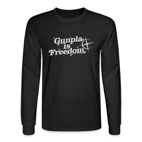 Freedom Men's T-shirt — Banshee Black - Men's Long Sleeve T-Shirt