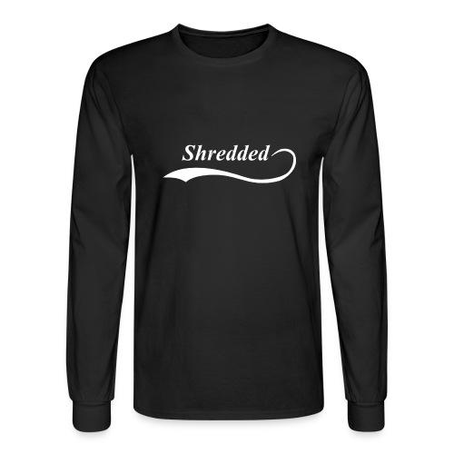Mens Shredded Crewneck Sweatshirt - Men's Long Sleeve T-Shirt