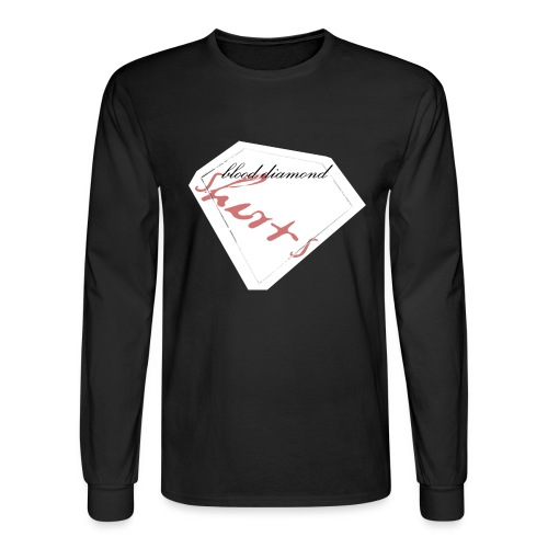 Blood Diamond -white logo - Men's Long Sleeve T-Shirt