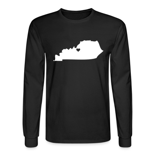 Kentucky Silhouette Heart - Men's Long Sleeve T-Shirt