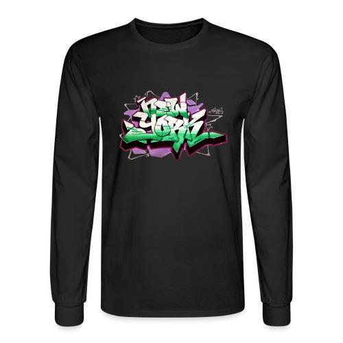 RANGE - Design for New York Graffiti Color Logo - Men's Long Sleeve T-Shirt