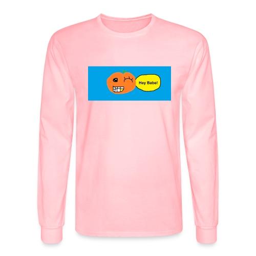 peachy smile - Men's Long Sleeve T-Shirt