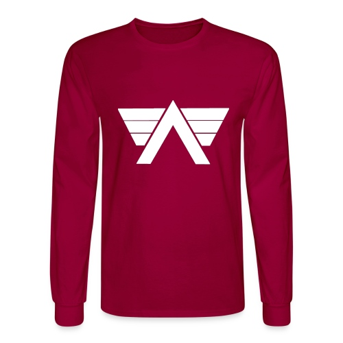 Bordeaux Sweater White AeRo Logo - Men's Long Sleeve T-Shirt