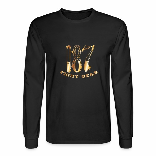 187 Fight Gear Gold Logo Sports Gear - Men's Long Sleeve T-Shirt